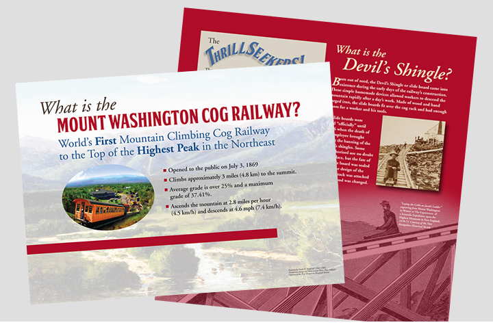 Sullivan Creative designed the new museum for the Mount Washington Cog Railway