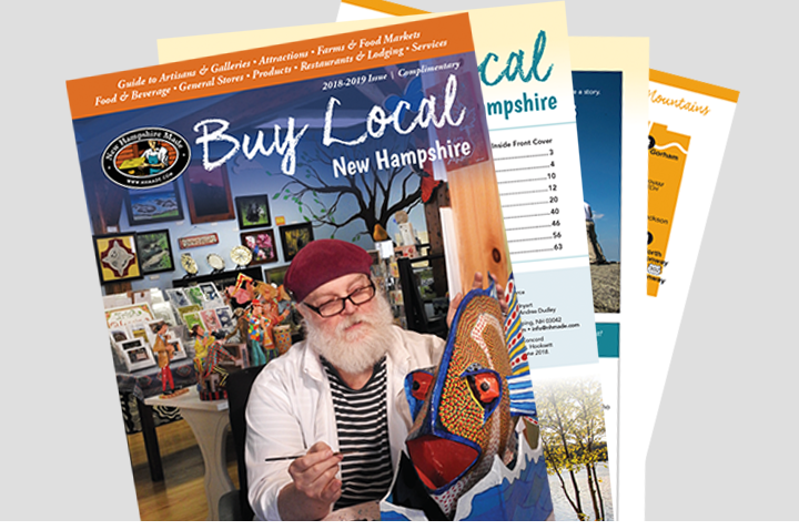 Sullivan Creative designed NH Made's printed Buy Local Guide