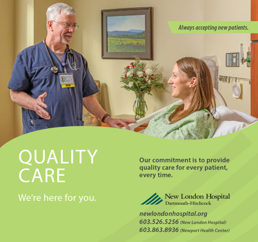 A New London Hospital print ad highlighting the quality of their care