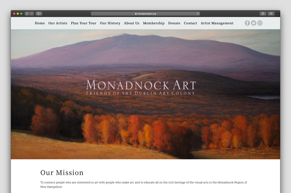 Picture of the Monadnock Art Website